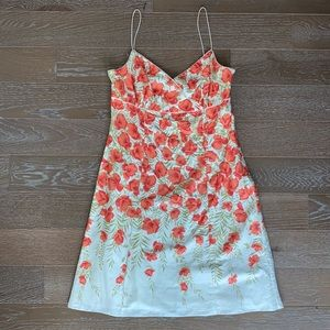 Ann Taylor Cotton Floral Print Fit & Flare Dress